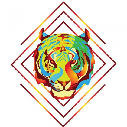 Fire Tiger T-Shirt Design