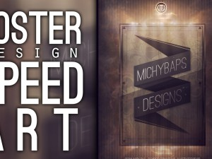 Poster design speed art